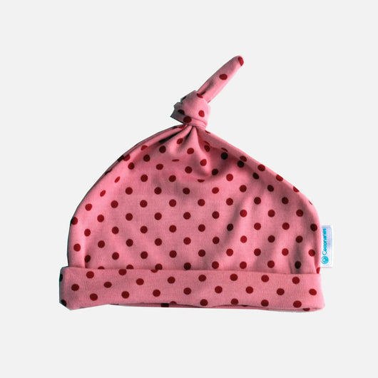 Hats - Light Pink Polkadot
