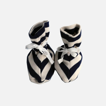 Booties - Navy Blue Stripes