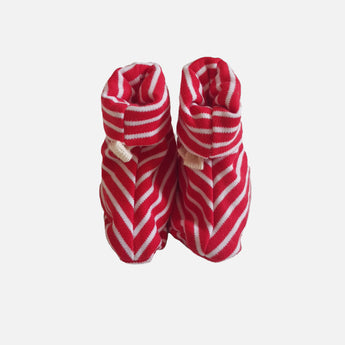 Booties - Red Stripes