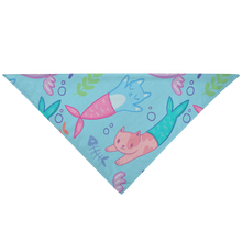 Load image into Gallery viewer, Pet Bandana - Cat Mermaid - P.A.W