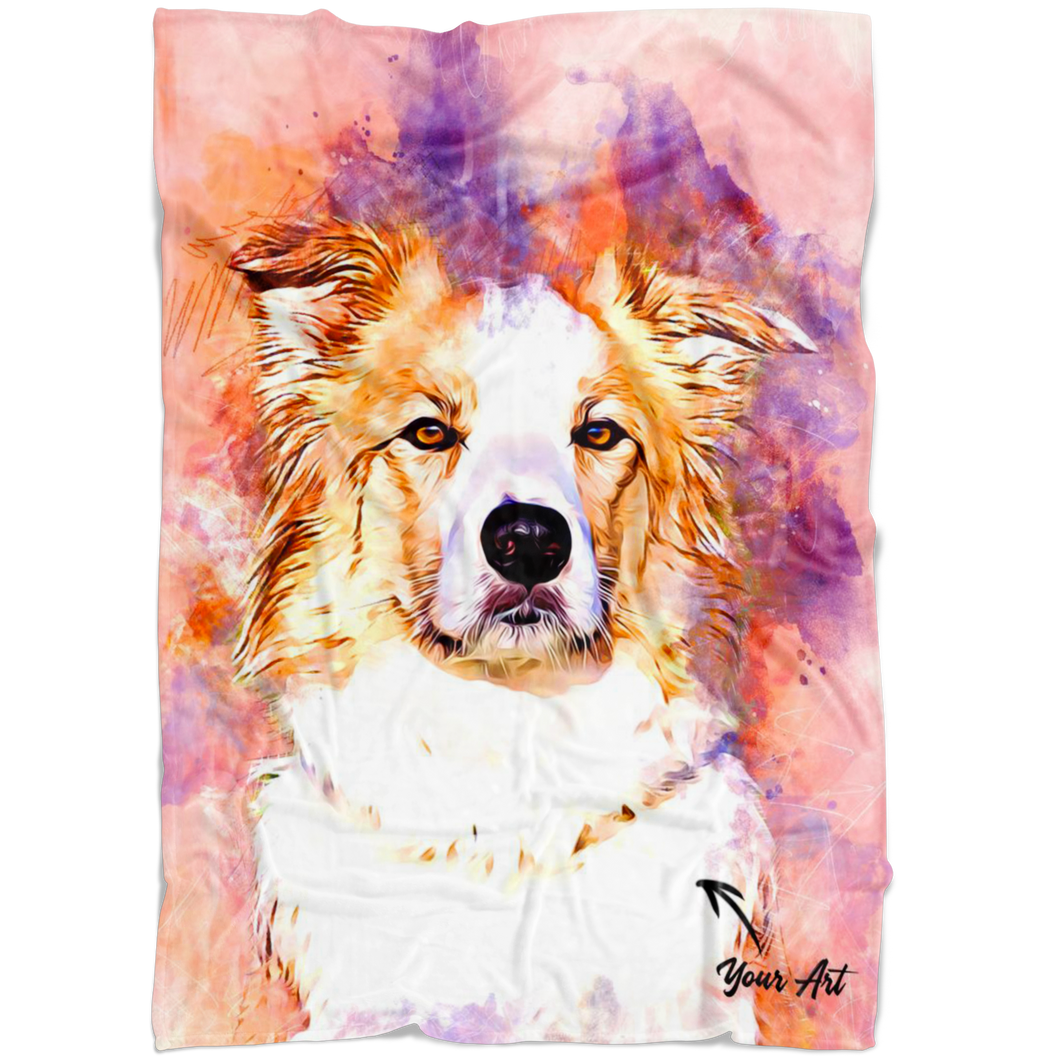Watercolor Pet Blanket Printing - P.A.W