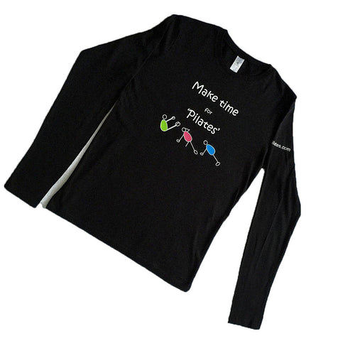 Black Pilates long sleeve top