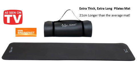 Extra Thick Extra Long Black Pilates Mat