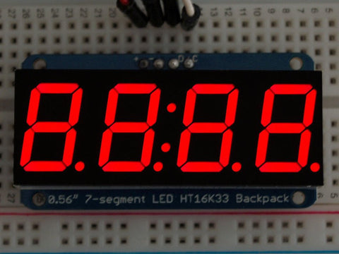 "Adafruit 0.56"" 4-Digit 7-Segment Display w/I2C Backpack - Red"