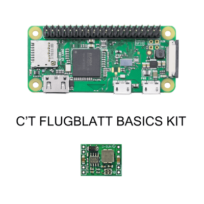 Pi Zero W EASY + Step Down Modul Kit für c't digitales Flugblatt