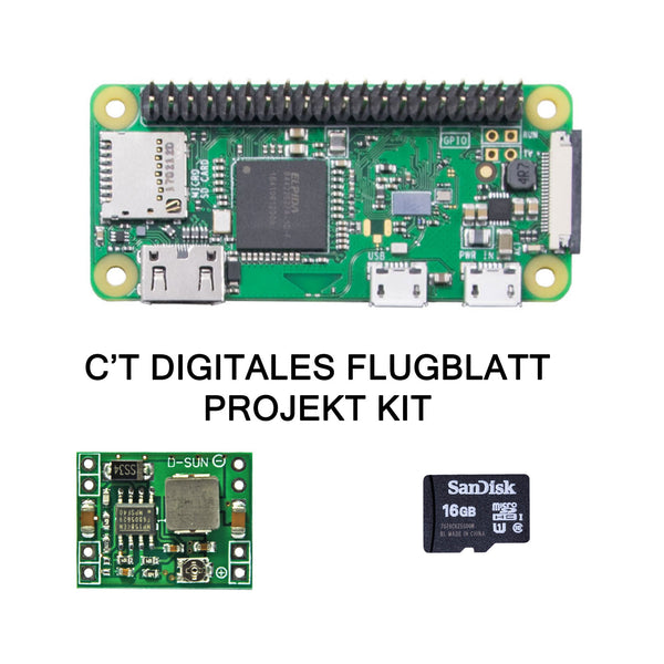 CT Pi Zero W Digitales Flugblatt Kit