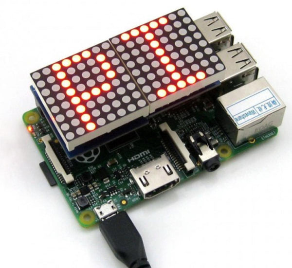 LED Matrix für Raspberry PI 8 x 16 LEDs (Joy-iT)