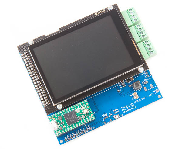 "Teensy 4.0 Triple CAN Board with 480x320 3.5"" Touch LCD"