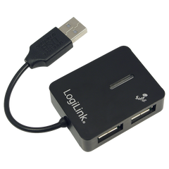 USB 2.0 Hub 4-Port, Smile, Schwarz