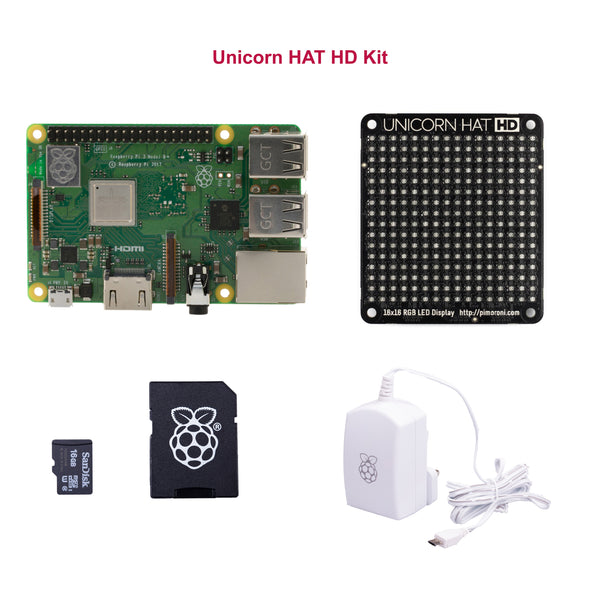 Unicorn HAT HD Kit: Raspberry Pi 3 B+