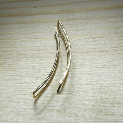 Morocco Ear Climber - 925 Sterling Silver & 14k Gold Fill