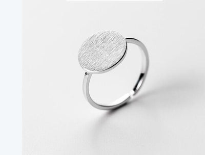 Full Moon Ring - 925 Sterling Silver