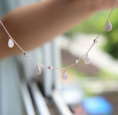 Drops of Love Necklace - 925 Sterling Silver