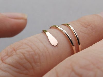 California Mid Ring - 14k Gold Filled & 925 Sterling Silver