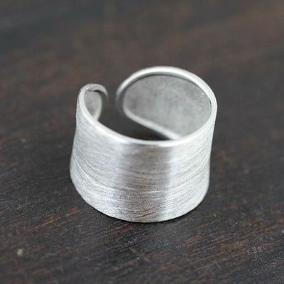 Concrete Textures Ring - 925 Sterling Silver