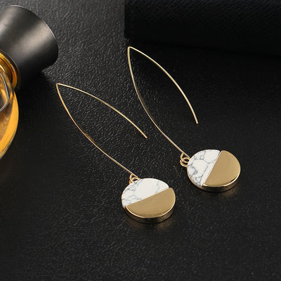 Gold & Marble Desires Earrings