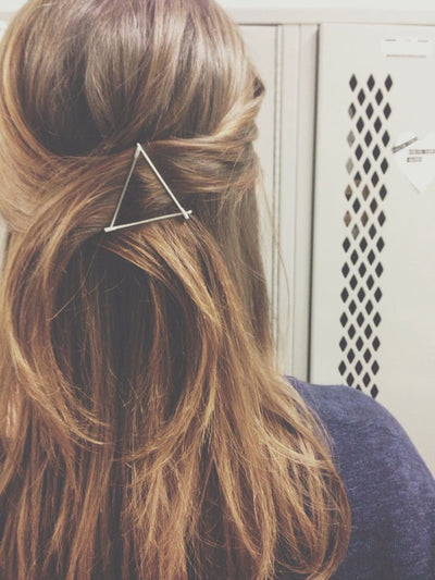 Triangle Hair Clip On