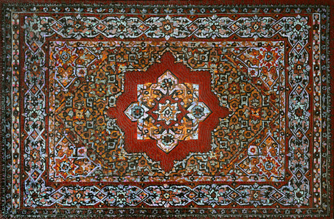 Anatoly Gankevich Armenian carpet, Soviet Mandala series, canvas on oil 130x200