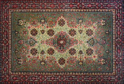 Anatoly Gankevich Belarus carpet, (Soviet Mandala series) canvas on oil 135x200, 2013