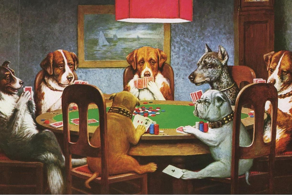 3D print «Dogs Playing Poker» by Cassius Marcellus Coolidge ...