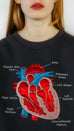 Square Wombat Heart - embroidered sweatshirt. Dark Gray