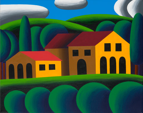 "House in Tuscany. 2016, acrylic on canvas, 39.37"" x 55.12"""