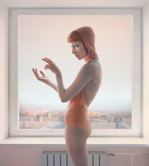 "Katerina Belkina, Morning Message, 2010 (Empty spaces), Archival pigment print, Mounted on Alu Dibond, Diasec 43,31 x 37,80"" (110 x 98 cm)"