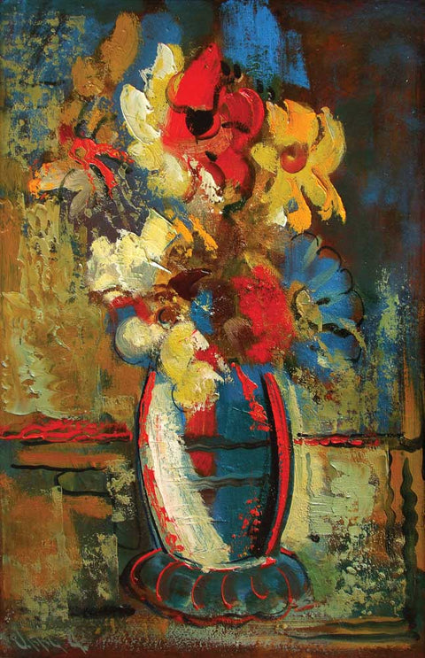 Yuri Grigoryan Flowers, oil on canvas, 53×36 2002