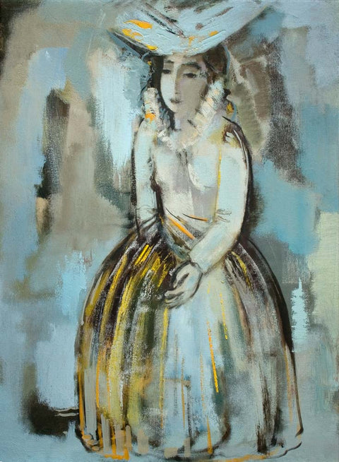 Yuri Grigoryan Girl in white, canvas, oil, 80х60, 2008
