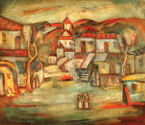 Yuri Grigoryan Houses of my childhood, 130х150, oil on canvas, 1985