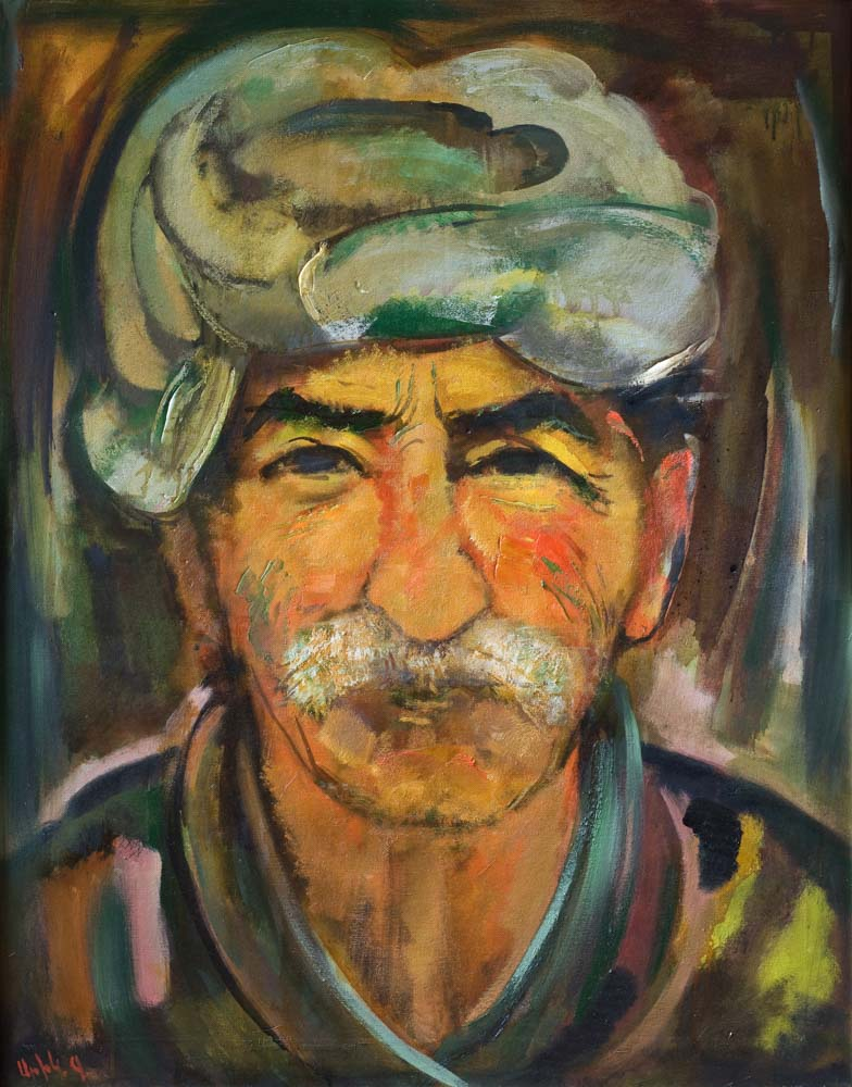 Yuri Grigoryan Peasant, oil on canvas, 100×80, 2004