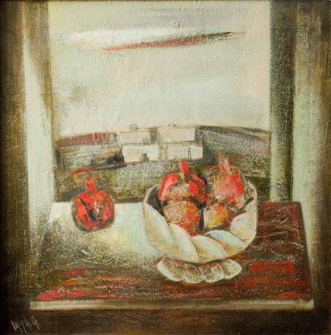 Yuri Grigoryan Still-life with pomegranates, 70х70, oil on canvas, 2005