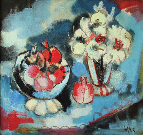 Yuri Grigoryan Still life, oil on canvas, 80×85, 2004