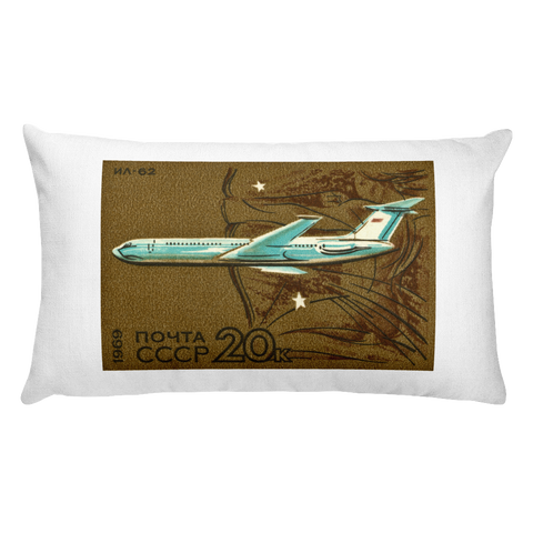 """IL-62 (1963)"" Rectangular Pillow"