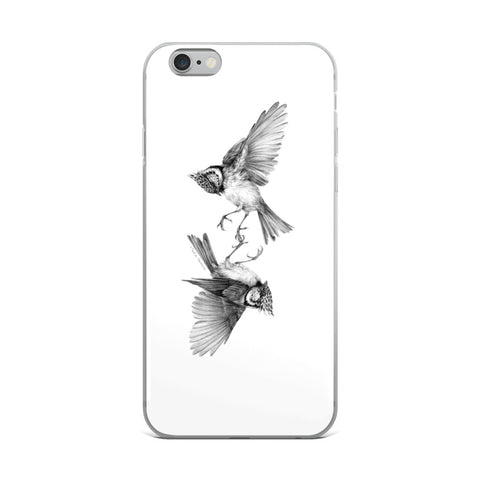 Secret signs. Crested tits iPhone Case