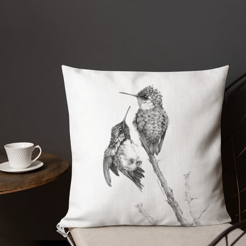 Tasha Gabeeva Secret signs. Hummingbird Premium Pillow