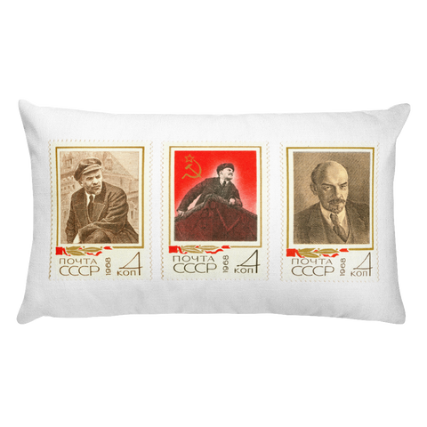 """Lenin, Lenin & Lenin"" Pillow"