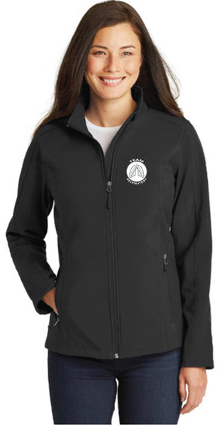 Team Respiratory Soft Shell Jackets for LADIES~CUSTOMIZABLE WITH NAME & CREDENTIALS
