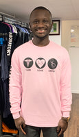 Team Nursing Light Pink long sleeve