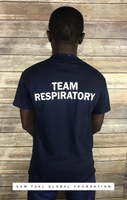 Team Respiratory Short sleeve Navy Blue (White Ink)