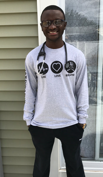 Team Respiratory Sports Grey Long sleeve