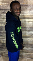 Team Respiratory Pull-Over Hoody Navy Blue