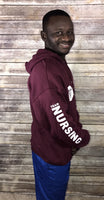 Maroon Unisex Team Nursing Pull-Over Hoody