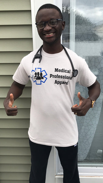 Medical Professional Apparel Promo Tees-Ice Grey