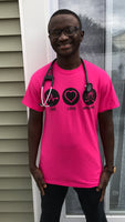 Team Respiratory Short Sleeve HOT PINK Unisex