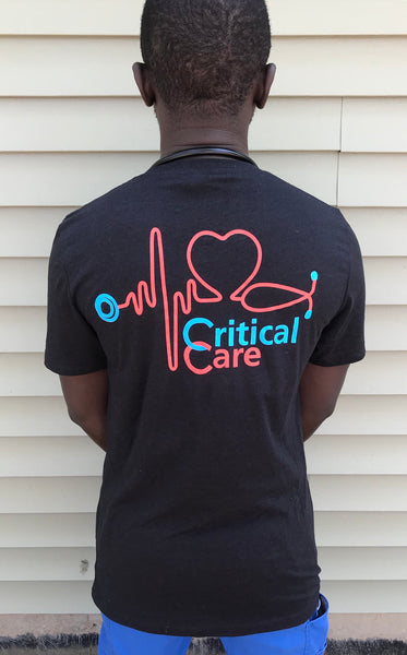 Critical V-neck short sleeve Tshirt Black