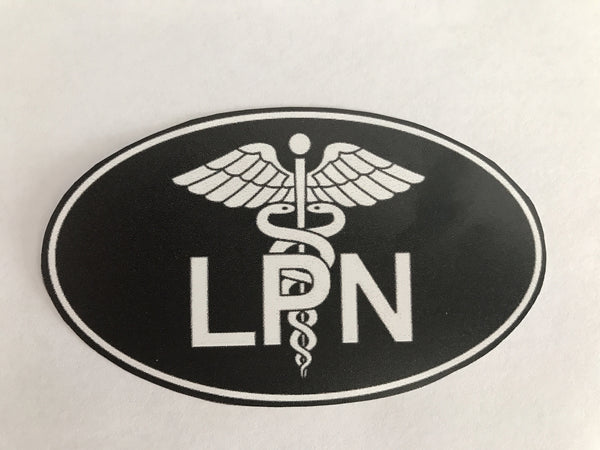 LPN oval Bumper/windshield Decal