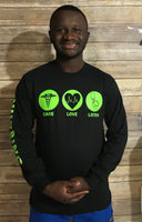 All New Team Nursing Long Sleeve Tshirt Black
