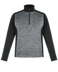 Ash City - North End Men's Conquer Performance Mélange Interlock Half-Zip Top