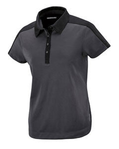 Ash City - North End Sport Red Ladies' Symmetry UTK cool.logik™ Coffee Performance Polo